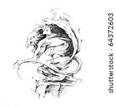 sketch of a tattoo art  death | Shutterstock . vector #64372603