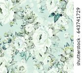 Stock photo seamless pattern of bouquets of roses b 643741729