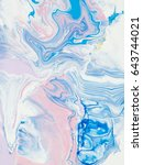 blue and pink abstract hand... | Shutterstock . vector #643744021