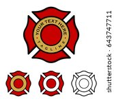 fire department emblem | Shutterstock .eps vector #643747711