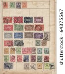 sheet of old stamps | Shutterstock . vector #64375567