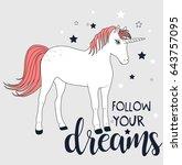 unicorn illustration vector for ... | Shutterstock .eps vector #643757095
