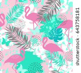 seamless abstract pattern with... | Shutterstock .eps vector #643758181