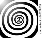 vector spiral  background.... | Shutterstock .eps vector #643758259