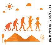 human evolution. silhouette... | Shutterstock .eps vector #643758751