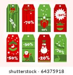 winter sales tags | Shutterstock .eps vector #64375918