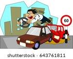 Car Accident Conceptual Drawin...