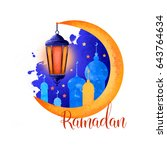 ramadan kareem holiday greeting ... | Shutterstock . vector #643764634