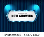 theater sign on curtain with... | Shutterstock .eps vector #643771369