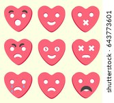 various emotions of the...   Shutterstock .eps vector #643773601