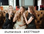 beautiful hot girls having... | Shutterstock . vector #643774669