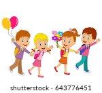 kids are going to school... | Shutterstock .eps vector #643776451