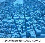 new york map  satellite view ... | Shutterstock . vector #643776949