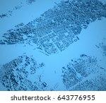new york map  satellite view ... | Shutterstock . vector #643776955