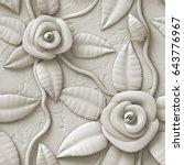 3d flowers  seamless | Shutterstock . vector #643776967