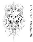 sketch of tattoo art | Shutterstock . vector #64377784