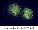 Closeup Of Fireworks In The Sk...