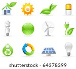 ecology and green energy icon... | Shutterstock .eps vector #64378399