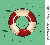 colorful lifesaver design | Shutterstock .eps vector #643786381