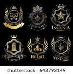set of vector vintage elements  ...   Shutterstock .eps vector #643793149