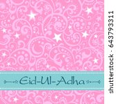 a greeting card template ... | Shutterstock . vector #643793311