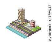 isometric city megapolis...   Shutterstock .eps vector #643794187