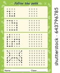 visual perceptual worksheets ... | Shutterstock . vector #643796785