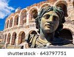 roman amphitheatre arena di... | Shutterstock . vector #643797751