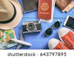 travel and vacation concept.... | Shutterstock . vector #643797895