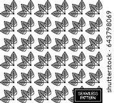 vector geometric seamless... | Shutterstock .eps vector #643798069