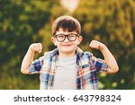 strong  smart and funny little... | Shutterstock . vector #643798324