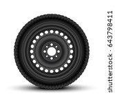 realistic vector vehicle wheels. | Shutterstock .eps vector #643798411