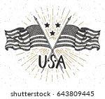 vintage label  hand drawn... | Shutterstock .eps vector #643809445