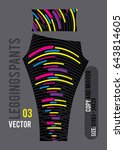 leggings pants fashion vector... | Shutterstock .eps vector #643814605