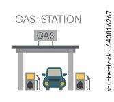 gas station vector | Shutterstock .eps vector #643816267
