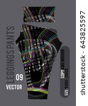 leggings pants fashion vector... | Shutterstock .eps vector #643825597