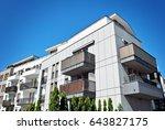 modern apartment buildings...   Shutterstock . vector #643827175