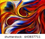 abstract design of colorful... | Shutterstock . vector #643837711
