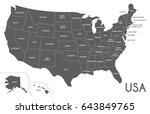 usa map vector illustration... | Shutterstock .eps vector #643849765