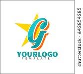 g letter identity. colorful... | Shutterstock .eps vector #643854385