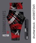 leggings pants fashion vector... | Shutterstock .eps vector #643857265