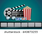 movie and cinema object | Shutterstock .eps vector #643873255