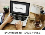 web design page content hashtag ... | Shutterstock . vector #643874461