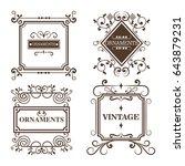 ornamental frames design   Shutterstock .eps vector #643879231