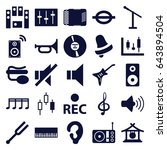 sound icons set. set of 25... | Shutterstock .eps vector #643894504