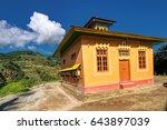 A Beautiful Sunlit Buddhist...