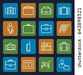 case icons set. set of 16 case... | Shutterstock .eps vector #643898521