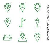 gps icons set. set of 9 gps... | Shutterstock .eps vector #643899769