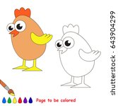 egg chicken to be colored  the... | Shutterstock .eps vector #643904299