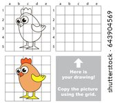 copy the picture using grid... | Shutterstock .eps vector #643904569